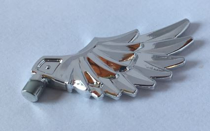 Chrome Silver Minifig, Wing Feathered  11100 Custom Chromed by BUBUL