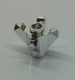 Chrome Silver Rock 1 x 1 Crystal 4 Point  11127 Custom Chromed by BUBUL