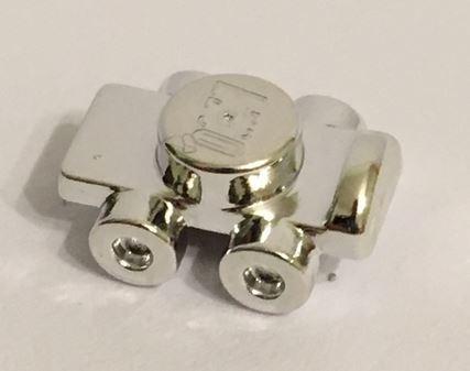 Chrome Silver Minifig, Footgear Roller Skate  11253 or 18747 Custom Chromed by BUBUL