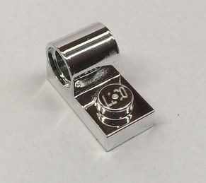 Chrome Silver Plate, Modified 1 x 2 with Pin Hole on Top  11458 Custom Chromed by BUBUL