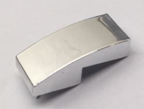11477_Chrome Silver Slope, Curved 2 x 1 No Studs  Custom Chromed by BUBUL