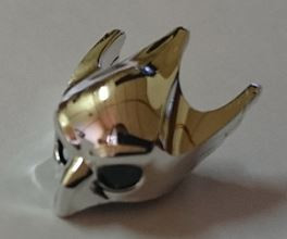Chrome Silver Minifig, Headgear Mask Bird (Eagle)    12549   Custom Chromed by BUBUL