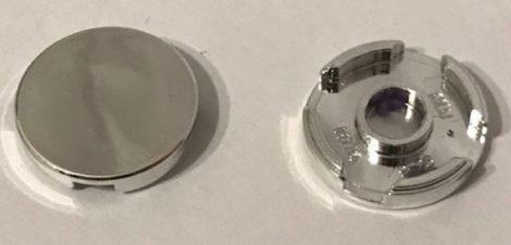 14769 Chrome Silver Tile, Round 2 x 2 with Bottom Stud Holder   14769 similar item 4150    Custom Chromed by BUBUL
