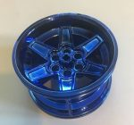 15038 Chrome BLUE Chrome  Wheel 56mm D. x 34mm Technic Racing Medium    part: 15038  Custom Chromed by Bubul
