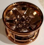 Chrome-Copper Wheel 56mm D. x 34mm Technic Racing Medium, 6 Pin Holes  part 15038 Custom chromed by Bubul
