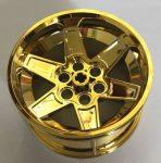 15038 Chrome GOLD Chrome  Wheel 56mm D. x 34mm Technic Racing Medium    part: 15038  Custom Chromed by Bubul