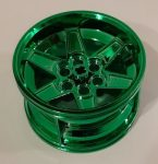 15038 Chrome GREEN Chrome  Wheel 56mm D. x 34mm Technic Racing Medium Custom Chromed by Bubul