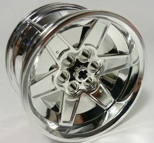Chrome Silver Wheel 56mm D. x 34mm Technic Racing Medium   15038  Chromed by Bubul