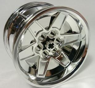 Chrome Silver Wheel 56mm D. x 34mm Technic Racing Medium   15038  Chromed by Bubul