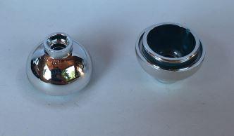Chrome Silver Brick, Round 2 x 2 Dome Bottom  15395 Custom Chromed By BUBUL