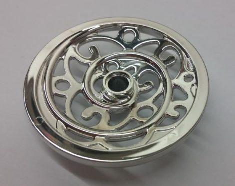 Chrome Silver Wheel Wagon - Ornate Huge (43mm D.)  15744 Custom Chromed by BUBUL