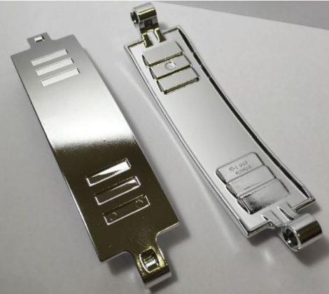 18944_S Chrome Silver Technic, Panel Curved 3 x 13  18944 or similar 28923 Custom Chromed by BUBUL