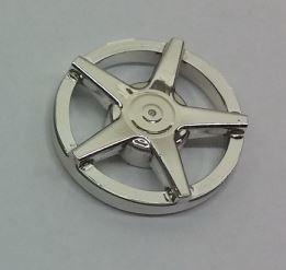 Chrome Silver Wheel Cover 5 Spoke - for Wheel 18976   Part: 18978 18978a Custom Chromed by Bubul