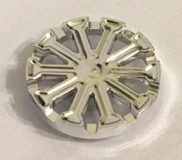 Chrome Silver Wheel Cover 10 Spoke T Shape - for Wheel 18976  18979a Custom Chromed by BUBUL