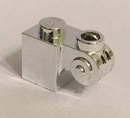 20310_Chrome Silver Brick, Modified 1 x 1 with Scroll with Open Stud  20310 Custom Chromed by BUBUL