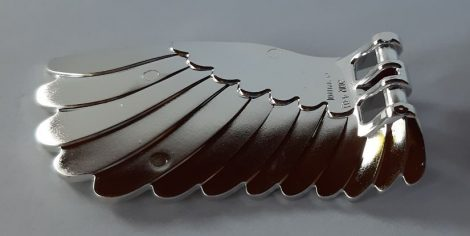 Chrome Silver Wing 4 x 7 Right with Feathers and Handles for Clips  20312 Custom Chromed by BUBUL