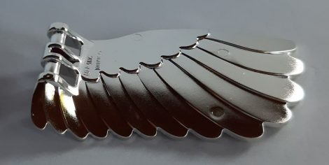 Chrome Silver Wing 4 x 7 Left with Feathers and Handles for Clips  20313 Custom Chromed by BUBUL