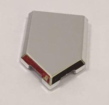 Chrome Silver Tile, Modified 2 x 3 Pentagonal  22385 or 35341 or 35339 Custom Chromed by BUBUL