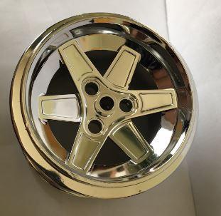 Chrome Silver Wheel 62mm D. x 46mm Technic Racing Large  22969  Custom chromed by Bubul