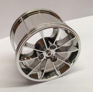 Chrome Silver Wheel 62.3mm D. x 42mm Technic Racing Large  23800 Custom Chromed by BUBUL