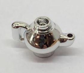 Chrome Silver Minifig, Utensil Teapot   23986  Custom Chromed by BUBUL