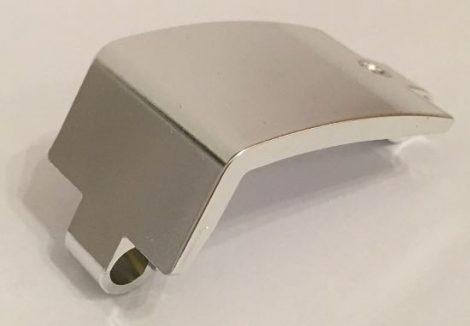 Chrome Silver Technic, Panel Curved 3 x 6 x 3  24116 Custom Chromed by BUBUL
