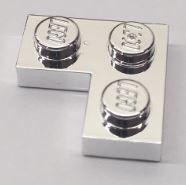 2420 Chrome Silver Plate 2 x 2 Corner   Original   part: 2420   Custom Chromed by BUBUL
