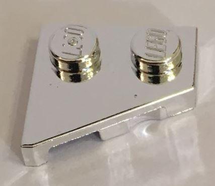 Chrome Silver Wedge, Plate 2 x 2 Right  24307 Custom Chromed by BUBUL