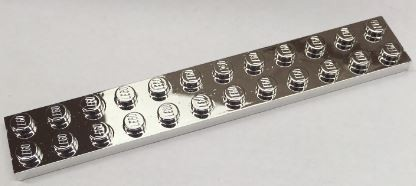 2445 Chrome Silver  Plate 2 x 12  Custom chromed by Bubul