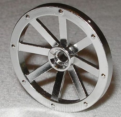 Chrome Silver Wheel Wagon Small (27mm D.)    Part:2470  Custom Chromed by Bubul