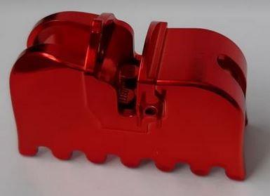 Chrome-RED Horse Barding, Ruffled Edge  part 2490 Custom chromed by Bubul