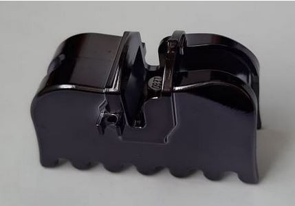 Chrome Titan Black Horse Barding, Ruffled Edge Original part: 2490 Custom chromed by Bubul