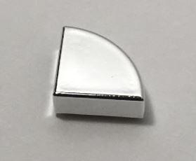 25269 Chrome Silver Tile, Round 1 x 1 Quarter  25269 Custom Chromed by BUBUL