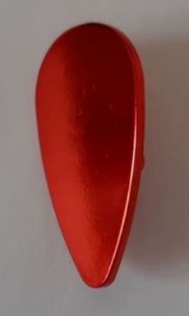 Chrome-RED Minifig, Shield Ovoid  part 2586 Custom chromed by Bubul