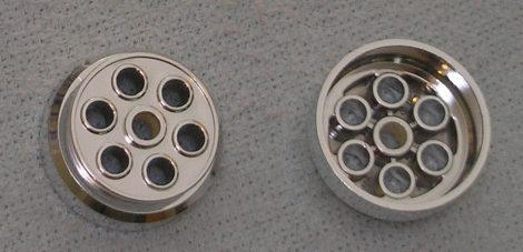 Chrome Silver Wheel 30mm D. x 13mm (13 x 24 Model Team)   Part:2695 chromed by Bubul