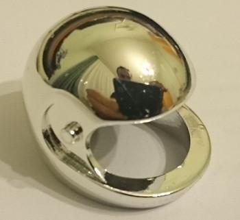 Chrome Silver Technic, Figure Accessory Helmet  2715 Custom Chromed by Bubul