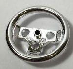 2741_S Chrome Silver Technic, Steering Wheel Large  2741 Custom Chromed by BUBUL