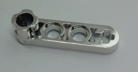 Chrome Silver Technic, Liftarm 1 x 4 Thin with Stud Connector  Part: 2825 Custom chromed by Bubul