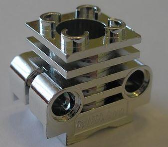 2850 Chrome Silver Technic Engine Cylinder Custom Chromed by Bubul