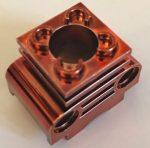 2850b_RED Chrome Copper Technic Engine Cylinder  Part 2850b   Custom chromed by Bubul
