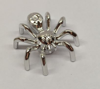 Chrome Silver Spider with Elongated Abdomen    29111  Custom Chromed by BUBUL