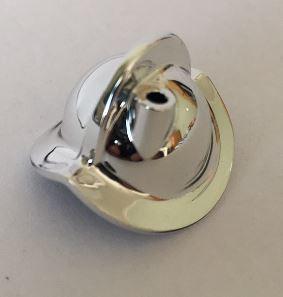 Chrome Silver Minifig, Headgear Helmet Conquistador  30048 or 10836    Custom chromed by Bubul