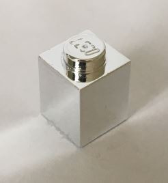 Chrome Silver Brick 1 x 1 part: 3005  Chromed by Bubul