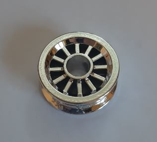 30155 Chrome Silver Wheel Spoked 2 x 2 with Pin Hole  Part: 30155  Custom chromed by Bubul