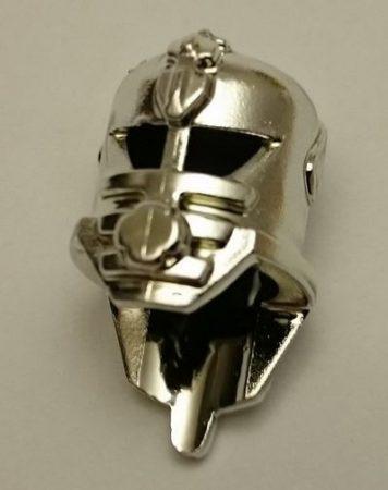 Chrome Silver Minifig, Headgear Helmet Underwater Stingray   30202  Custom chromed by BUBUL
