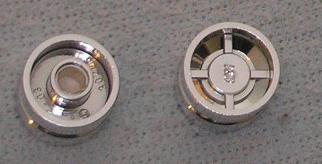 Chrome Silver Wheel 18mm D. x 14mm (Tread Small Hub)  Part:30285 chromed by Bubul