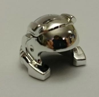 Chrome Silver Minifig, Headgear Helmet with Breathing Apparatus and Headlights  30325 Custom chromed by BUBUL