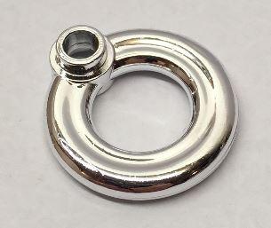 Chrome Silver Minifigure, Utensil Flotation Ring (Life Preserver)  30340 Custom Chromed by BUBUL
