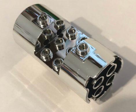 Chrome Silver Cylinder 3 x 6 x 2 2 3 Horizontal    Part: 30360 or 93168  Custom chromed by BUBUL