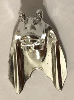 Chrome Silver Minifigure, Head Modified SW Gungan Type 1  30371 Custom Chromed by BUBUL